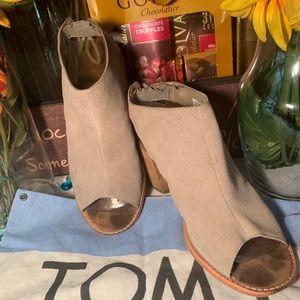 Toms Suede Open Toe Sandals